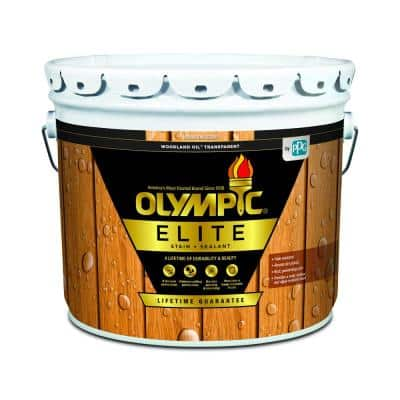 Elite 3 Gal. Mountain Cedar Woodland Oil Transparent Advanced Exterior Stain and Sealant in One