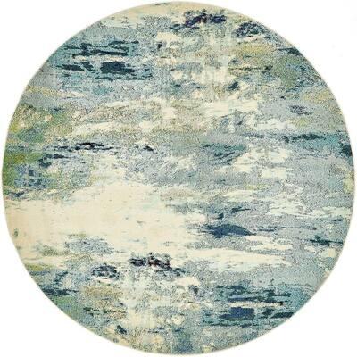 Chromatic Avalon Light Blue 8' 0 x 8' 0 Round Rug