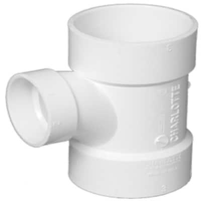 3 in. x 3 in. x 1-1/2 in. DWV PVC Sanitary Tee Reducing
