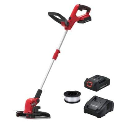 20-Volt Lithium-Ion Cordless 12 in. String Trimmer, 2.0 Ah Battery and Charger Included