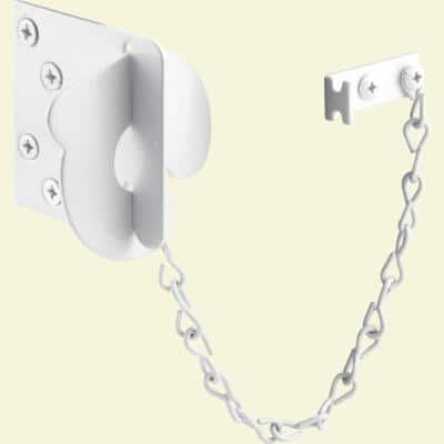 Texas Security Bolt, Stamped Steel Construction, White Painted Finish