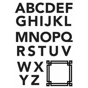 Black Geometric Sans-Serif Monogram Peel And Stick Giant Wall Decals