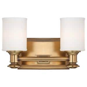Harbour Point 2-Light Liberty Gold Bath Light