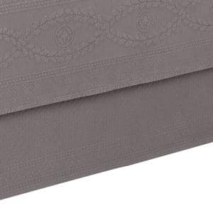 Williamsburg Abby Grey Solid Full Bed Skirt
