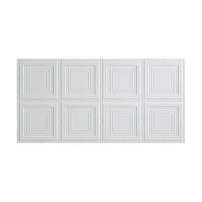Portrait 2 ft. x 4 ft. Glue Up Vinyl Ceiling Tile in Matte White (40 sq. ft.)