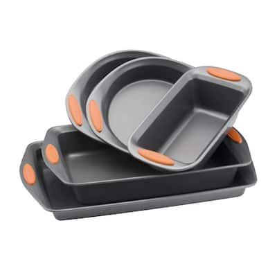 Oven Lovin' 5-Piece Gray and Orange Bakeware Set