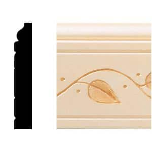 1/2 in. x 3 in. x 8 ft. Hardwood Base Moulding