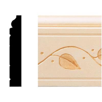 1/2 in. x 3 in. x 8 ft. Hardwood Base Moulding