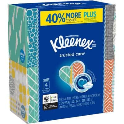 Trusted Care 4-Pack Facial Tissue (70-Count)