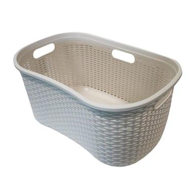 40 L Laundry Basket Ivory