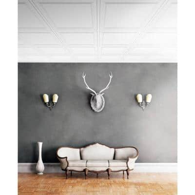 Wall Design 2 ft. x 2 ft. Flamingo Suspended Grid Panel Ceiling Tile (32 sq. ft. / case)
