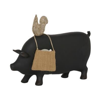 Black Ceramic Farmhouse Decorative Sign