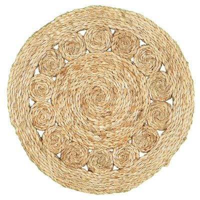 15 in. Natural Jute LR32017-NAT15 Natural Placemat (Set of 2)