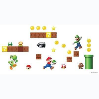 5 in. x 11.5 in. Nintendo - Super Mario Build a Scene Peel and Stick Wall Decal