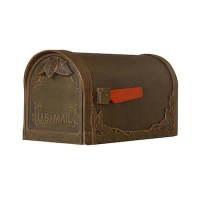 Floral Copper Post Mount Mailbox