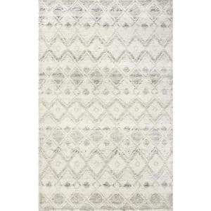 Greta Dotted Diamonds Texture Ivory 5 ft. x 8 ft. Area Rug