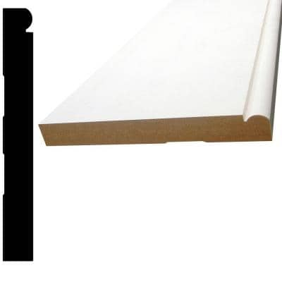5/8 in. x 5-1/4 in. x 96 in. MDF Primed Fiberboard Base Moulding
