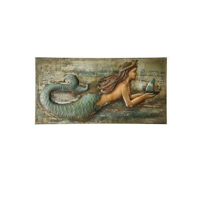 Three Dimensional Mermaid Hand Made Metal Work