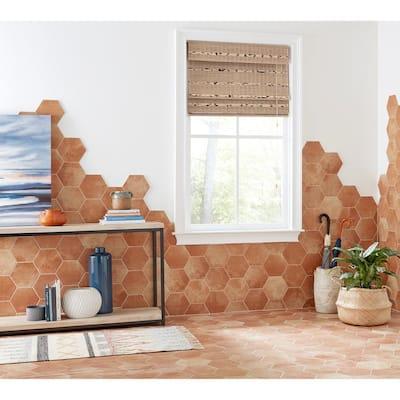 Delrona Saltillo Matte 8 in. x 9 in. Glazed Porcelain Hexagon Floor and Wall Tile (9.37 sq. ft./Case)