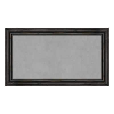 Rustic Pine Black Narrow Framed Magnetic Memo Board