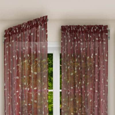 Innovative 20 in. - 36 in. Swing Arm Single Curtain Rod in Brushed Nickel