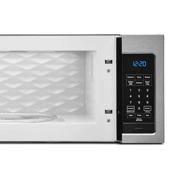 https www homedepot com p whirlpool 1 1 cu ft over the range microwave in stainless steel wml35011ks 314990563