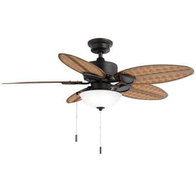 Lakemoore 48 in. LED Indoor/Outdoor Matte Black Ceiling Fan with Light Kit