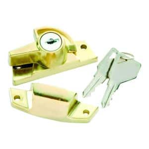 Polished Brass Metal Keyed Alike Window Sash Lock