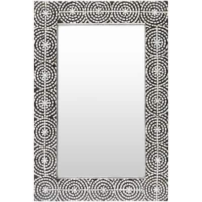 Medium Rectangle Black Modern Mirror (36 in. H x 24 in. W)