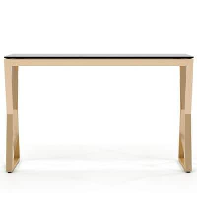 Harvoy 30 in.H Gold Console Table
