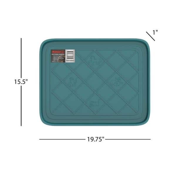Stalwart Teal 19 75 In X 15 5 In All Weather Boot Tray Hw5500076 The Home Depot