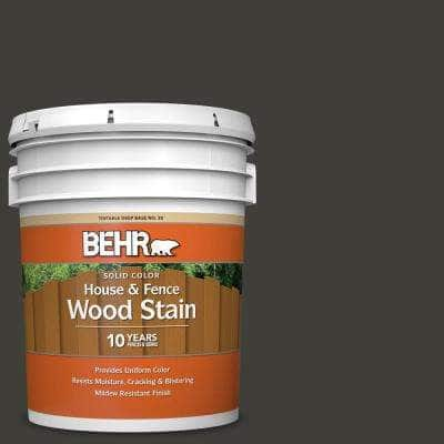 5 gal. #SC-102 Slate Solid Color House and Fence Exterior Wood Stain