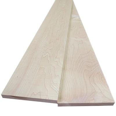 1 in. x 8 in. x 8 ft. Hard Maple S4S Board (2-Pack)