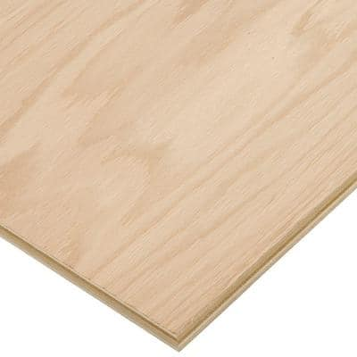 3/4 in. x 4 ft. x 8 ft. PureBond Red Oak Plywood