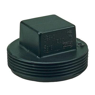 4 in. ABS DWV MIPT Cleanout Plug