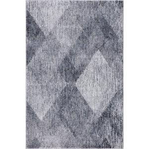 Genoa Ivory/Gray 3 ft. x 4 ft. Geometric Area Rug