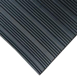 Corrugated Composite Rib 4 ft. x 4 ft. Black Rubber Flooring (16 sq. ft.)