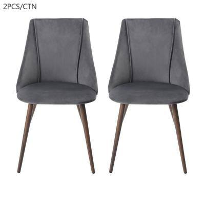 Smeg Grey Upholstered Dining Chair (Set of 2)