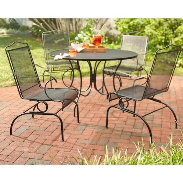 Hampton Bay Jackson Action Patio Chairs, Rod Iron Patio Furniture Home Depot