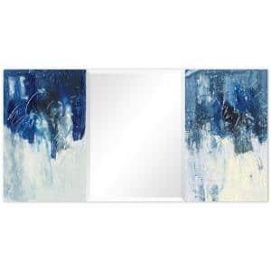 32 in. x 64 in. Blue Skies Rectangle Framed Printed Tempered Art Glass Beveled Accent Mirror