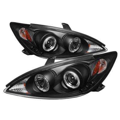 Toyota Camry 02-06 Projector Headlights - LED Halo - LED ( Replaceable LEDs ) - Black
