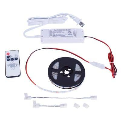 16 ft. White Indoor LED Tape Light w/remote (Plug-in or direct wire)