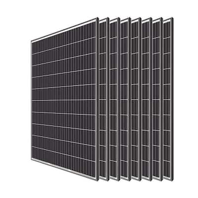 320-Watt Monocrystalline Solar Panel System Kit Off Grid for Shed Farm (8-Pieces)