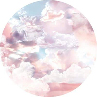 Candy Sky Pink Non Woven Dot Decal