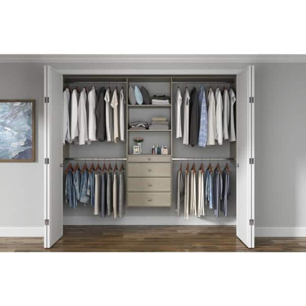 Closet Evolution Ultimate 60 In W 96 In W Rustic Grey Wood Closet System Gr19 The Home Depot