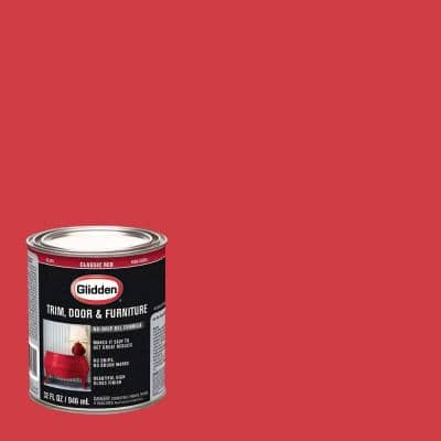1 qt. Classic Red Gloss Interior/Exterior Oil Paint