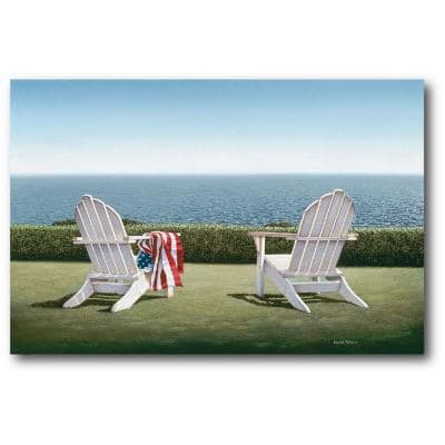 Spring House View Gallery-Wrapped Canvas Wall Art 36 in. x 24 in.