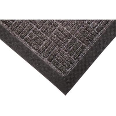 Crossbar Charcoal 48 in. x 72 in. Commercial Entrance Mat