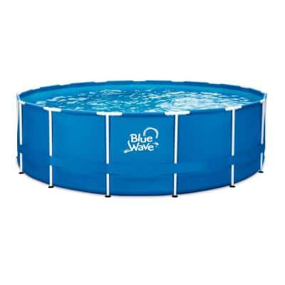 15 ft. Round 48 in. Deep Active Metal Frame Pool Package with Cover