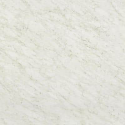 3 ft. x 10 ft. Laminate Sheet in White Carrara with Standard Fine Velvet Texture Finish